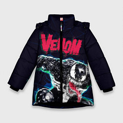 Куртка зимняя для девочки Веном цвета 3D-черный — фото 1