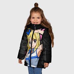Куртка зимняя для девочки Fairy Tail: Lucy цвета 3D-черный — фото 2
