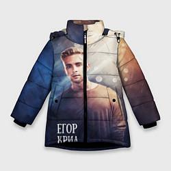 Куртка зимняя для девочки Егор Крид: Слеза цвета 3D-черный — фото 1