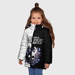Куртка зимняя для девочки Hollow Knight Black & White цвета 3D-черный — фото 2