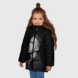 Куртка зимняя для девочки Егор Крид: Цвет настроения чёрный цвета 3D-черный — фото 2