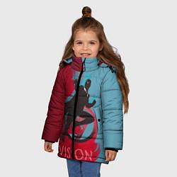 Куртка зимняя для девочки Vision Duo цвета 3D-черный — фото 2
