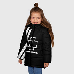 Куртка зимняя для девочки Rammstein: Black цвета 3D-черный — фото 2