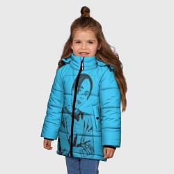 Детская зимняя куртка для девочки с принтом T-Fest, цвет: 3D-черный, артикул: 10182183106065 — фото 2