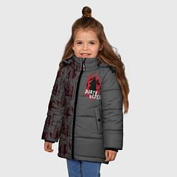 Куртка зимняя для девочки Darth Vader and Death Star цвета 3D-черный — фото 2
