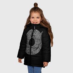 Куртка зимняя для девочки Joy Division цвета 3D-черный — фото 2