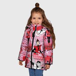 Куртка зимняя для девочки The Wasp цвета 3D-черный — фото 2