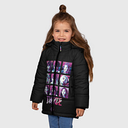 Куртка зимняя для девочки TWICE цвета 3D-черный — фото 2