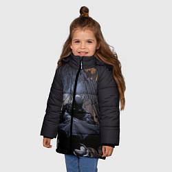 Куртка зимняя для девочки Batman цвета 3D-черный — фото 2