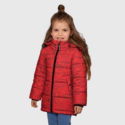Куртка зимняя для девочки Highlights Friends цвета 3D-черный — фото 2