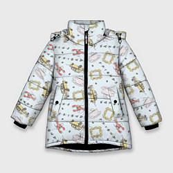 Куртка зимняя для девочки Friends цвета 3D-черный — фото 1