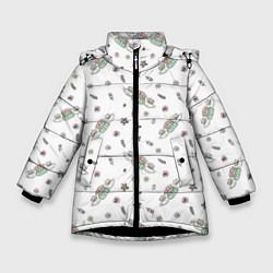 Куртка зимняя для девочки Central Perk цвета 3D-черный — фото 1