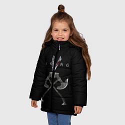 Куртка зимняя для девочки Vikings цвета 3D-черный — фото 2