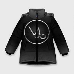 Куртка зимняя для девочки Capricorn Козерог цвета 3D-черный — фото 1