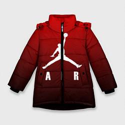 Куртка зимняя для девочки MICHAEL JORDAN цвета 3D-черный — фото 1