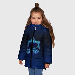 Куртка зимняя для девочки Знаки Зодиака Весы цвета 3D-черный — фото 2