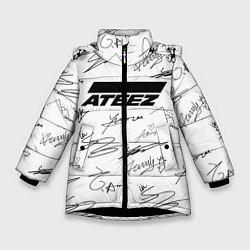Куртка зимняя для девочки ATEEZ АВТОГРАФЫ цвета 3D-черный — фото 1