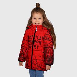 Куртка зимняя для девочки AHS цвета 3D-черный — фото 2