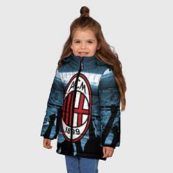 Куртка зимняя для девочки Milan цвета 3D-черный — фото 2