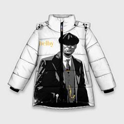 Куртка зимняя для девочки Томас Шелби цвета 3D-черный — фото 1