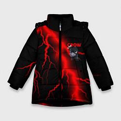 Куртка зимняя для девочки Brawl Stars CROW цвета 3D-черный — фото 1