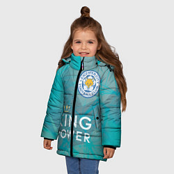Куртка зимняя для девочки Лестер Сити цвета 3D-черный — фото 2