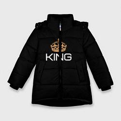 Куртка зимняя для девочки Король цвета 3D-черный — фото 1