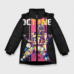 Куртка зимняя для девочки Apex Legends Octane цвета 3D-черный — фото 1