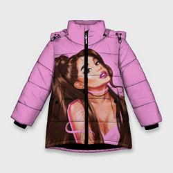 Куртка зимняя для девочки Ariana Grande Ариана Гранде цвета 3D-черный — фото 1