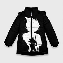 Куртка зимняя для девочки Mini Dragon Ball цвета 3D-черный — фото 1