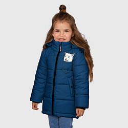 Куртка зимняя для девочки СМАДЖ В КАРМАНЕ цвета 3D-черный — фото 2