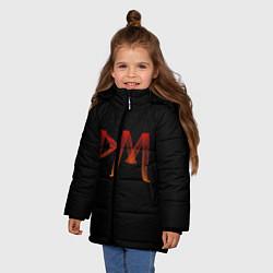 Куртка зимняя для девочки Пэйтон Мурмайер цвета 3D-черный — фото 2