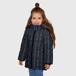 Куртка зимняя для девочки FUCK YOU как у Конор МакГрегор цвета 3D-черный — фото 2
