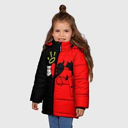 Куртка зимняя для девочки ЕГОР КРИД цвета 3D-черный — фото 2
