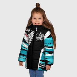 Куртка зимняя для девочки ВВС России Камуфляж цвета 3D-черный — фото 2