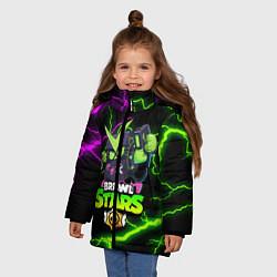 Куртка зимняя для девочки BRAWL STARS VIRUS 8-BIT цвета 3D-черный — фото 2