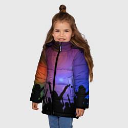 Куртка зимняя для девочки Пати цвета 3D-черный — фото 2