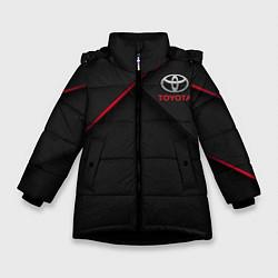 Куртка зимняя для девочки TOYOTA цвета 3D-черный — фото 1