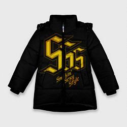 Куртка зимняя для девочки SSS Rank цвета 3D-черный — фото 1
