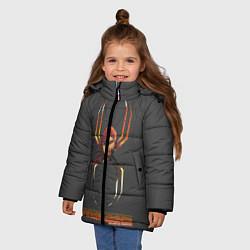 Куртка зимняя для девочки BLACK WIDOW цвета 3D-черный — фото 2