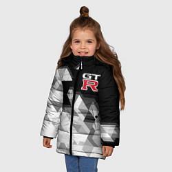 Куртка зимняя для девочки NISSAN GTR цвета 3D-черный — фото 2