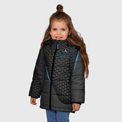 Куртка зимняя для девочки Mercedes-AMG цвета 3D-черный — фото 2
