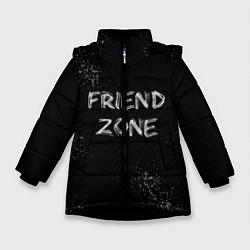 Куртка зимняя для девочки FRIEND ZONE цвета 3D-черный — фото 1