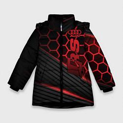 Куртка зимняя для девочки Audi RS цвета 3D-черный — фото 1