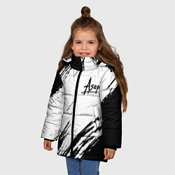 Куртка зимняя для девочки ASAP ROCKY цвета 3D-черный — фото 2