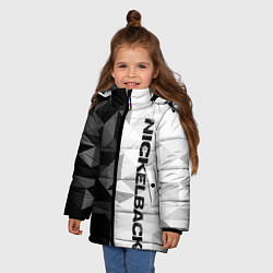 Куртка зимняя для девочки Nickelback цвета 3D-черный — фото 2