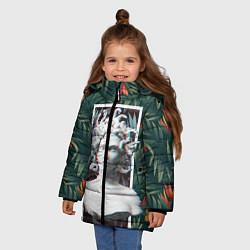 Куртка зимняя для девочки Медуза Горгона цвета 3D-черный — фото 2