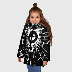 Куртка зимняя для девочки BLACK MIRROR цвета 3D-черный — фото 2