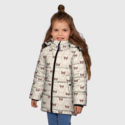 Куртка зимняя для девочки Westworld Logo Pattern цвета 3D-черный — фото 2