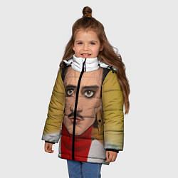Куртка зимняя для девочки Little Big: Banana Man цвета 3D-черный — фото 2